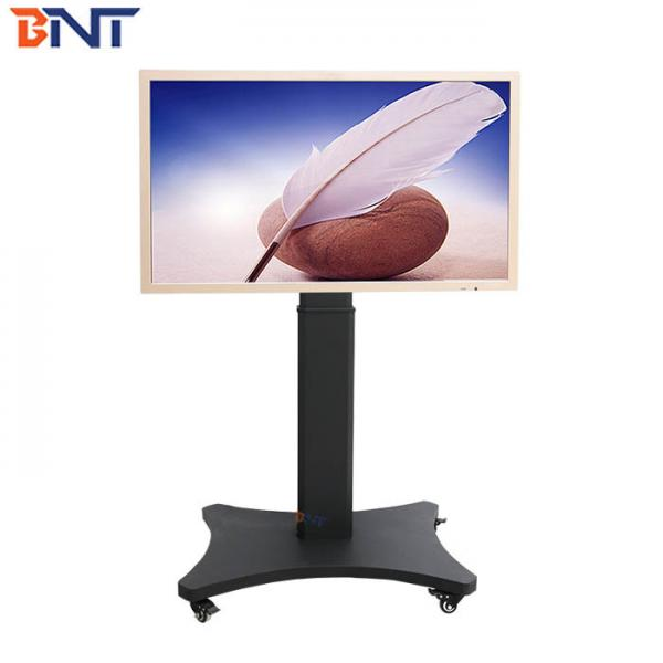 Quality Electric Lifting Floor Rolling TV Stand With Wireless Remote And Wired Switch for sale