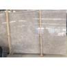 China Classic Cream Beige Marble Slab , Kitchen / Bathroom Marble Slab Thickness Optional wholesale