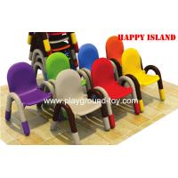 China Early Childhood Classroom Furniture Kids Chair Plastic Pipe Frame PP Plastic Material wholesale