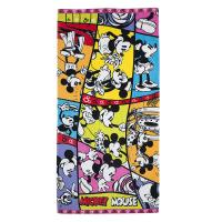 China Mickey Disney Group Plain Bath Towels , Jacquard Cotton Beach Towels wholesale
