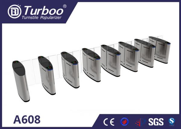 Quality 304 Stainless Steel Turnstile Security Products 35-40 Persons / Min Transit Speed for sale