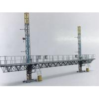 China STC100 Mast Climbing Work Platform Twin Tower 2400kg Load Capacity Steel With Dipping Zin on sale