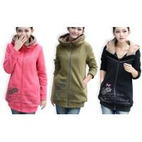 China Red Hooded Sweatshirts For Women / Ladies , Heavyweight Hooded Sweatshirt on sale