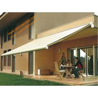 China Outdoor Motorized  Awning Customized Sizes Retractable Half  Cassette Awnings wholesale