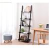 China Thick Wood Five Shelf Storage Rack  , Different Widths Decorative Wooden Ladder wholesale