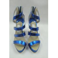 China Customize ASOS ladies patent leather  peep toe suspender high heels shoes&sandals wholesale