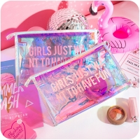 Buy cheap Personalized Holographic Travel Zipper PVC Cosmetic Bag from wholesalers