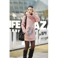 China Autumn Ladies Hooded Sweatshirts , Cotton OEM Embroidered on sale