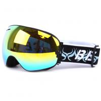 China Otg Design Uv Protection Mirrored Snow Goggles With Spherical Detachable Lens wholesale