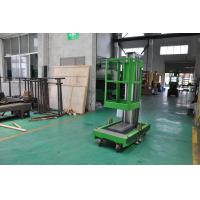 China 8m Platform Height Single Mast Aluminum Aerial Work Platform Green Color Shopping Mall Using with AC Power Supply wholesale