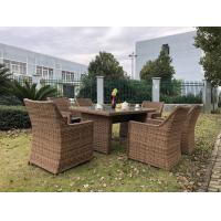 China Big Size Comfortable Rattan Outdoor Sofa Dining Set Wicker Furniture on sale