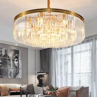 Buy cheap Gold Suspension Round design Crystal Pendant Lamp For Indoor Home Ceiling Decor from wholesalers