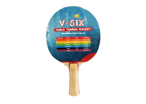 Quality Double Pimple Out Ping Pong Paddles Long Handle With Red Line For Family Recreation for sale