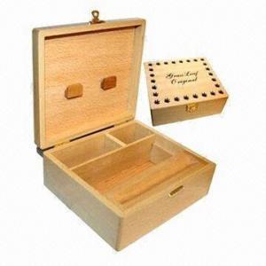 China Square wooden box, natural color wholesale