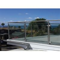 China Post Glass Railing Building Railing Outdoor Glass Balustrade Systems wholesale