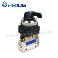 China 3 Way 2 Position Pneumatic Valve MSV86321PB , Round Green Button Mechanical Air Valve wholesale