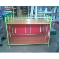 China Steel Supermarket Clothes Promotion Cart / Hand Push Exihibition Display Table wholesale