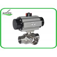 China L Or T Type Sanitary Ball Valves Butt Weld For Chemical Fluids And Pharmacy on sale