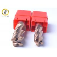 China Square 4 Flute Carbide End Mill Cutter For Side Machining Hardeness Material wholesale