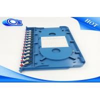 China ODF Rack Mount Fiber Panel With FC SC ST LC Adapters , Wall Mount Fiber Patch Panel 12 Port wholesale