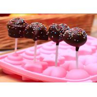 China DIY Baking Silicone Candy Molds / Pink Silicone Chocolate Mold wholesale