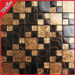 China China manufacturer brown wall crystal mosaic tiles wholesale