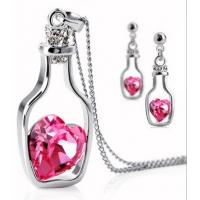 China Colrful Drift bottles of Crystal Jewelry Accessories Earrings Necklace wholesale