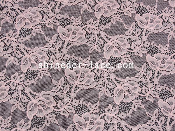 Quality Mesh Flower Stretch Lace Fabric Nylon Spandex Materail Fashion Design SYD-0178 for sale