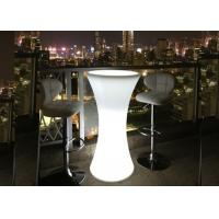 Buy cheap High Round Cocktail Table Furniture Set with Colorful Lighting from wholesalers