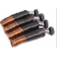Colored Ombre Indian Human Hair Weave Egg Curl No Any Bad Smell