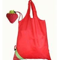 China Cute Non Woven Strawberry Shopping Tote Bags That Fold Into Themselves wholesale