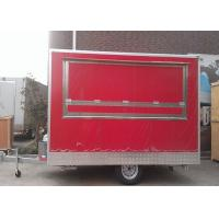 China Hamburger Fast Hot Dog Cart Food Concessions Trailers One Layer Gas Oven wholesale