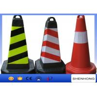 China Safety Overhead Line Construction Tools Red PVC Traffic Cones With Reflective Tape wholesale