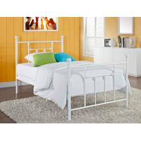 China Victorian Elegant Full Size Metal Beds , White Wrought Iron Bed Frame wholesale