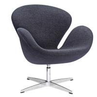 China Office Modern Leisure Chair , Replica Furniture Black Cashmere Swan Chair wholesale