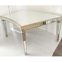 Curved Tempered Glass Dining Table , Contemporary Glass Dining TableFor Events