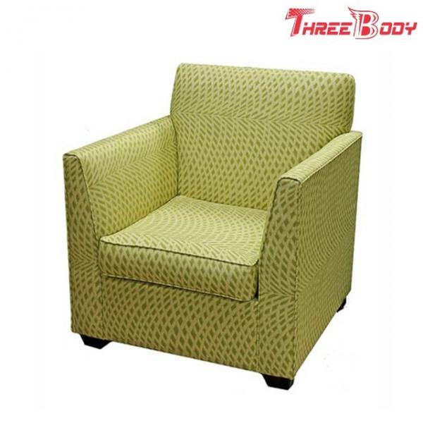 Quality Single Fabric Modern Lobby Chairs , Comfortable Hotel Balcony Accent Arm Chair for sale
