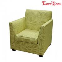 China Single Fabric Modern Lobby Chairs , Comfortable Hotel Balcony Accent Arm Chair wholesale