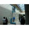 China Taille simple hydraulique de la charge 6m de la plate-forme 160kg de travail aérien de mât pour des entrepôts wholesale