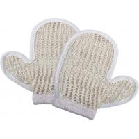 China Natural Customized Dead Skin Exfoliating Shower Mitt Sisal Body Scrubber Glove wholesale