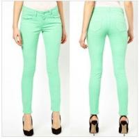 China Exclusive Skinny Jeans In Dusty Jade Green   wholesale