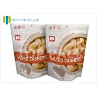 China FDA Certificates Food Packaging Bags , stand up pouch bags Top Zip Lock Matte Window on sale