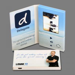 Buy cheap A paisagem do tamanho A5 anunciou o cartão video do folheto do Lcd costume da tela de 4,3 polegadas from wholesalers
