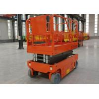 China Scissor Shear Fork Lift Work Platform Safety With Emergency Lowering Device on sale