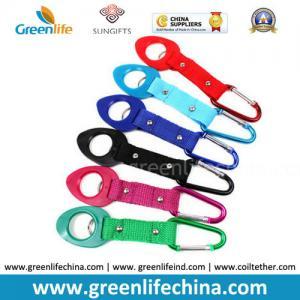 China Stuffer water bottle holder hook belt clip orange/blue/green/red/black aluminum carabiner on sale