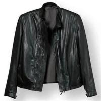China Winter S M L XL XLL Fleece Lined Leather cowhide 100% poly canvas jacket men on sale