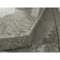 China Light Grey Stone Stair Treads And Risers , 7.5 Hardness Granite Stone Stairs wholesale