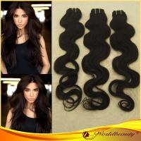 China Water Wave / Bodywave Indian Remy Hair Extension Weft In Natural Color on sale