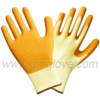 China 21G  Latex Palm Coated Gloves, Cotton Yarn on sale