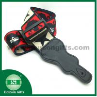 China HSGS001 China free designs Polyester Guitar Strap black leather end guitar straps wholesale on sale